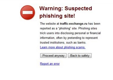 phishing website